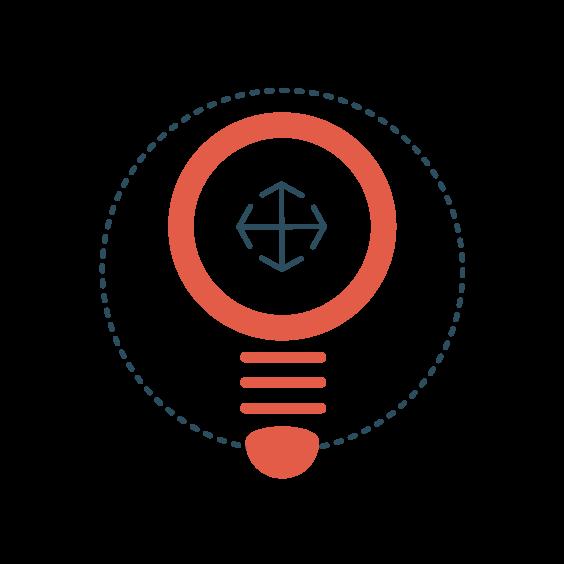 Icon   Circle with lightbulb