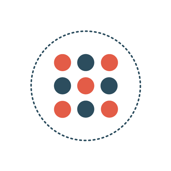 Icon   Circle with 9 dots
